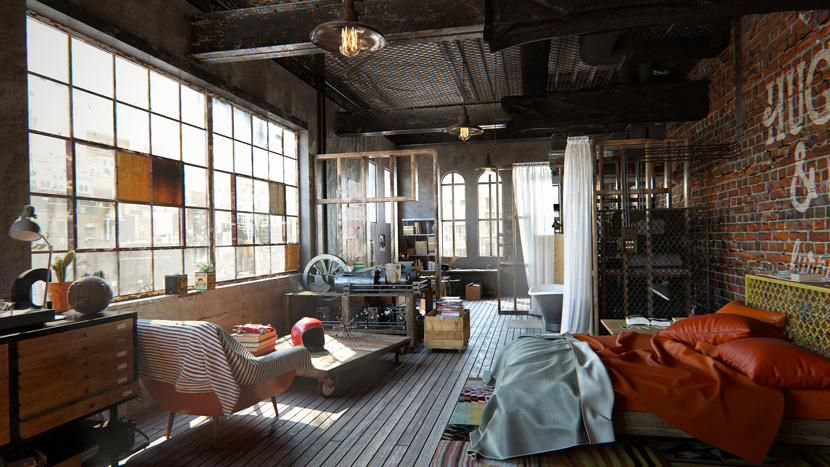Architectural visualization| Whola Lotta Loft | Yarko Kushta