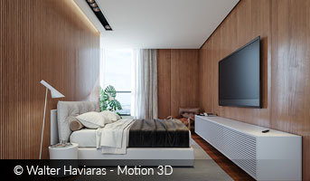 Walter Haviaras Bedroom Wood archviz