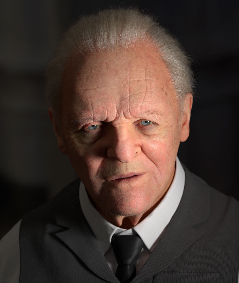 Anthony Hopkins 3D Portrait